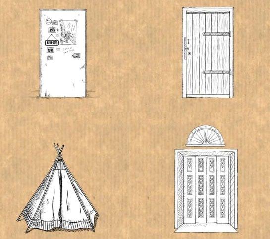 drawings of doors
