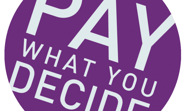 Purple Pay What You Decide Logo