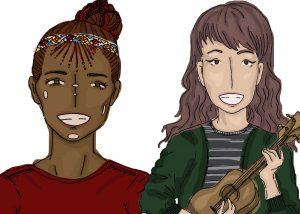 Illustration of workshop leaders Jane and Parissa