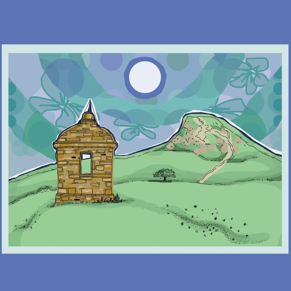 An illustration of Roseberry Topping