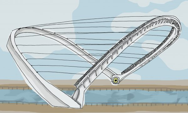 Illustration of Stockton's Millennium Bridge