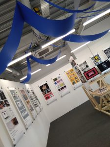 Photo of a Northern School of Art exhibition.
