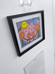 Close up from A Change of Perspective: What Do You Call Family Exhibition at ARC (showing artwork by Polly).