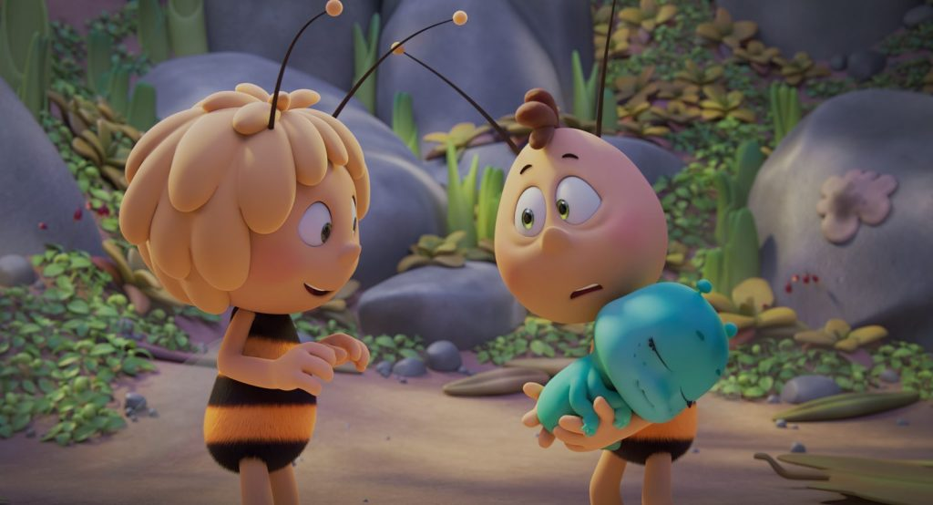 animated bees standing near rocks