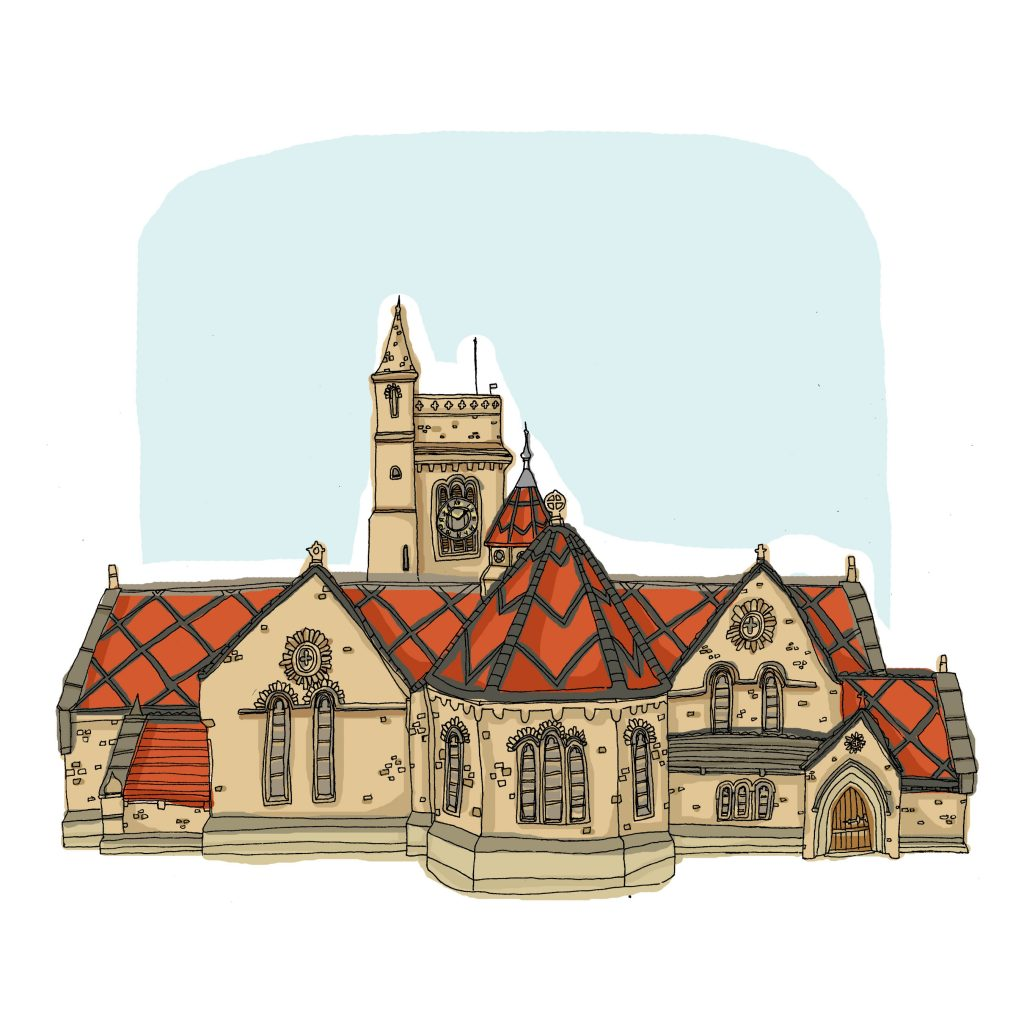 Illustration of Hartlepool Art Gallery by Lizzie Lovejoy
